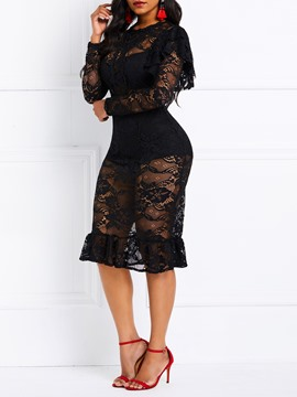 Ericdress Lace Mermaid Date Night Dress
