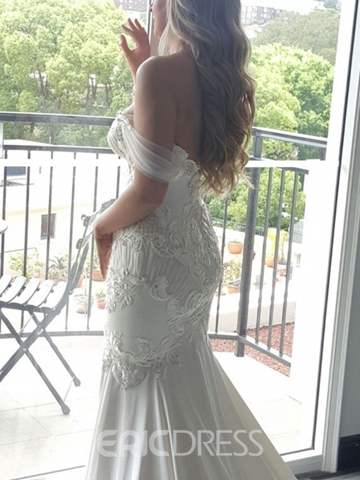 Ericdress Lace Appliques Cathedral Train Mermaid Wedding Dress