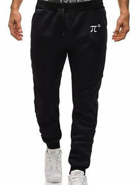 Ericdress Letter Printed Mid-Waist Mens Casual Pants