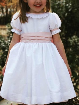 Ericdress Short Sleeves Ruffles Flower Girl Dress