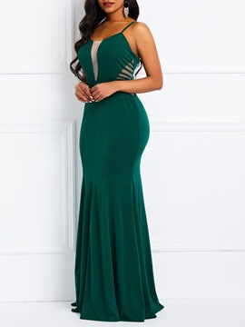 Ericdress Sleeveless Hole Floor-Length Mermaid Party Dress
