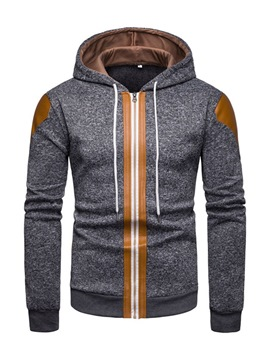 Ericdress Patchwork zipper Mens Cardigan Casual Hoodies