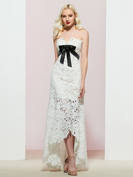 Ericdress Sleeveless Sweetheart A-Line Lace Evening Dress