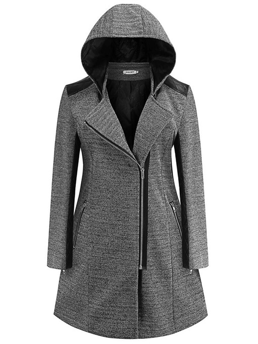 Ericdress A Line Zipper Regular Winter Mid-Length Overcoat