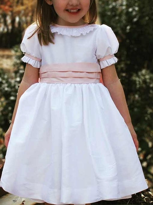 Ericdress Short Sleeves Ruffles Flower Girl Dress 2019
