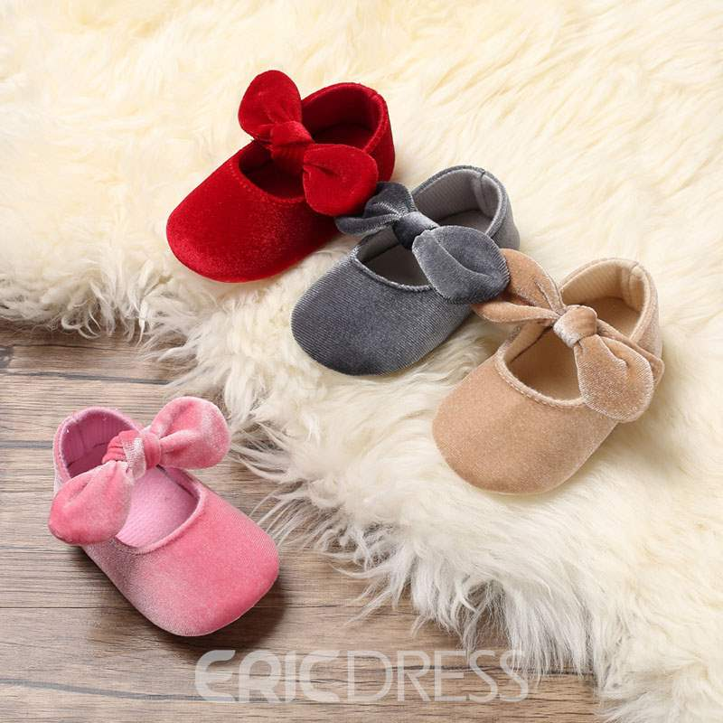 Ericdress Velcro Bowknot Toddler Shoes
