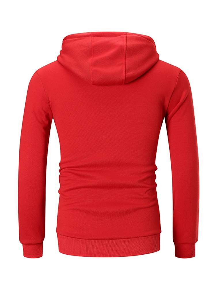 Ericdress Color Block Pullover Patchwork Mens Casual Hoodies