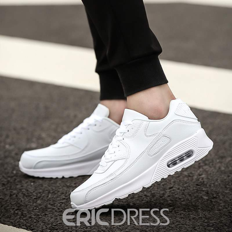 Ericdress PU Lace-Up Round Toe Men's Casual Sneakers