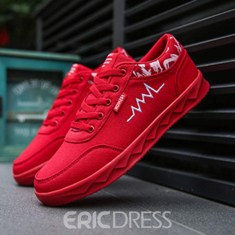 Ericdress Canvas Lace-Up Men's Shoes