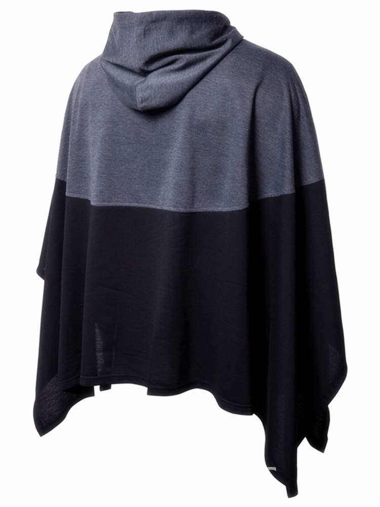 Ericdress Patchwork Pullover Color Block Mens Batwing Cloak Hoodies