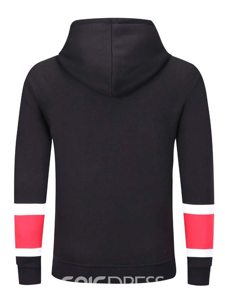 Ericdress Patchwork Pullover Mens Casual Hoodies