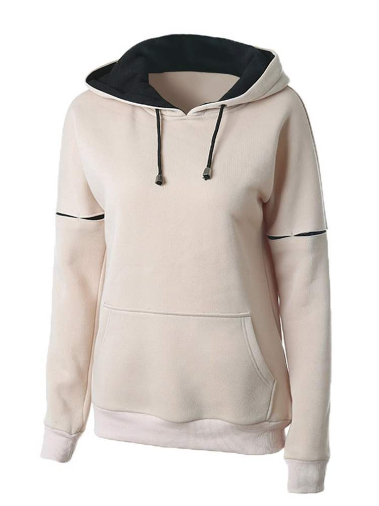 Ericdress Lace-Up Standard Winter Hoodie