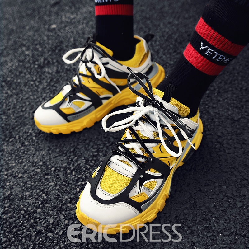 Ericdress Color Block Mesh Men's Sneakers