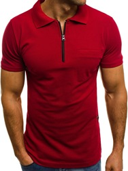 Ericdress Casual Plain Polo Neck Mens Loose T-shirt фото