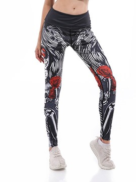 ericdress polyester print cartoon anti-sueur pantalon femme