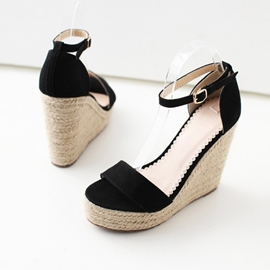Ericdress Wedge Heel Buckle Women's Sandals