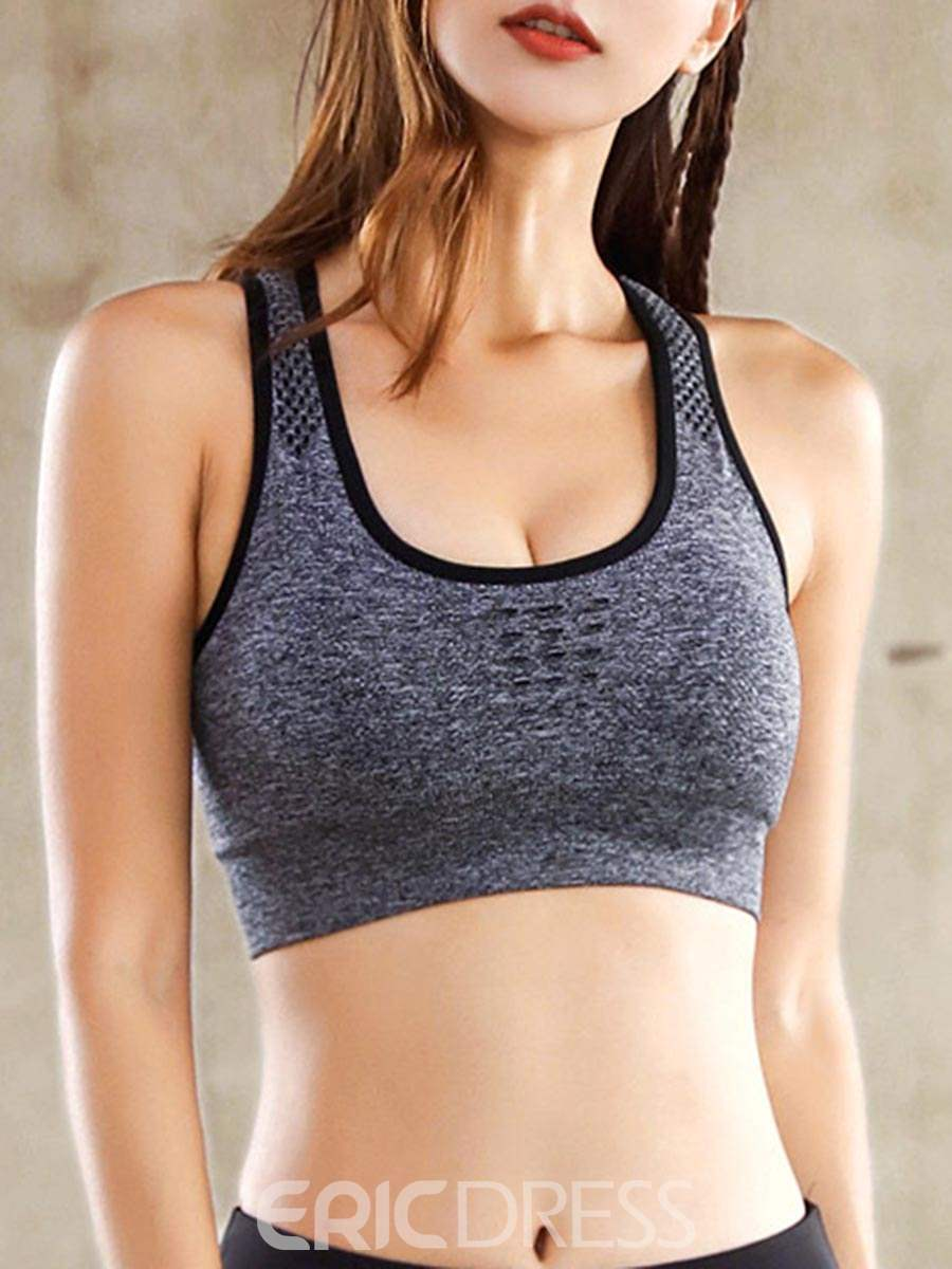 Ericdress I-Shaped Shockproof Plain Free Wire Sports Bras
