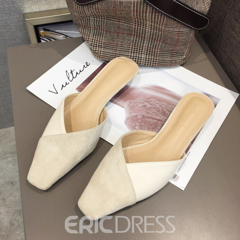 Ericdress Closed Toe Slip-On Chunky Heel Women's Mules Shoes