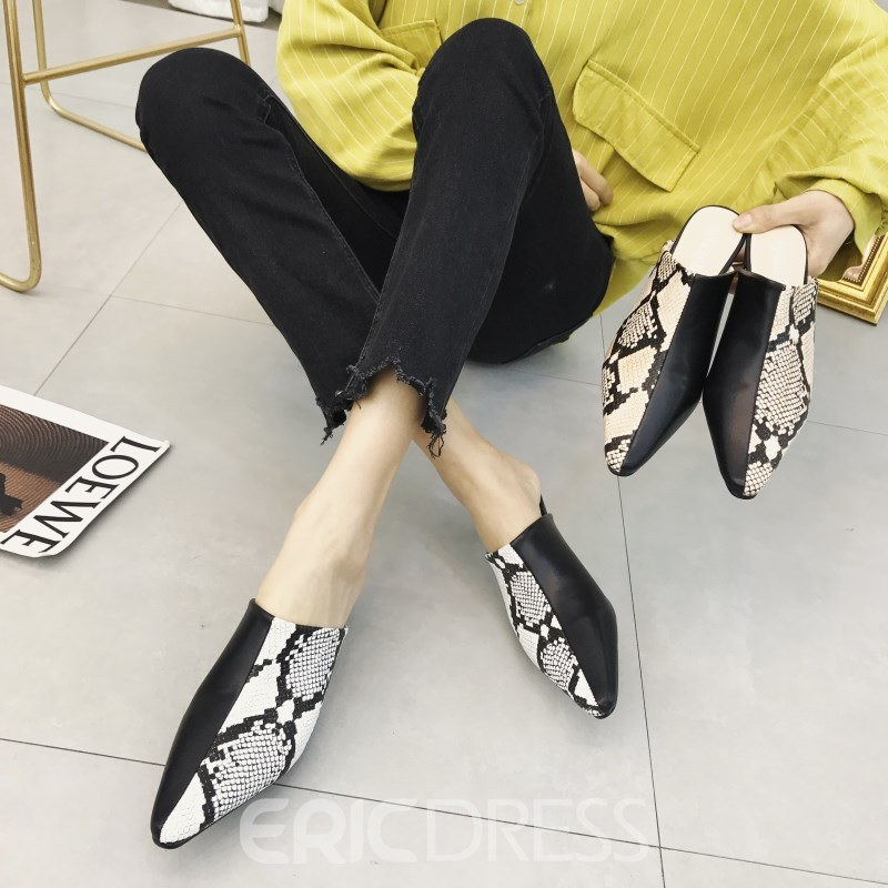Ericdress Serpentine Closed Toe Slip-On Women's Slippers