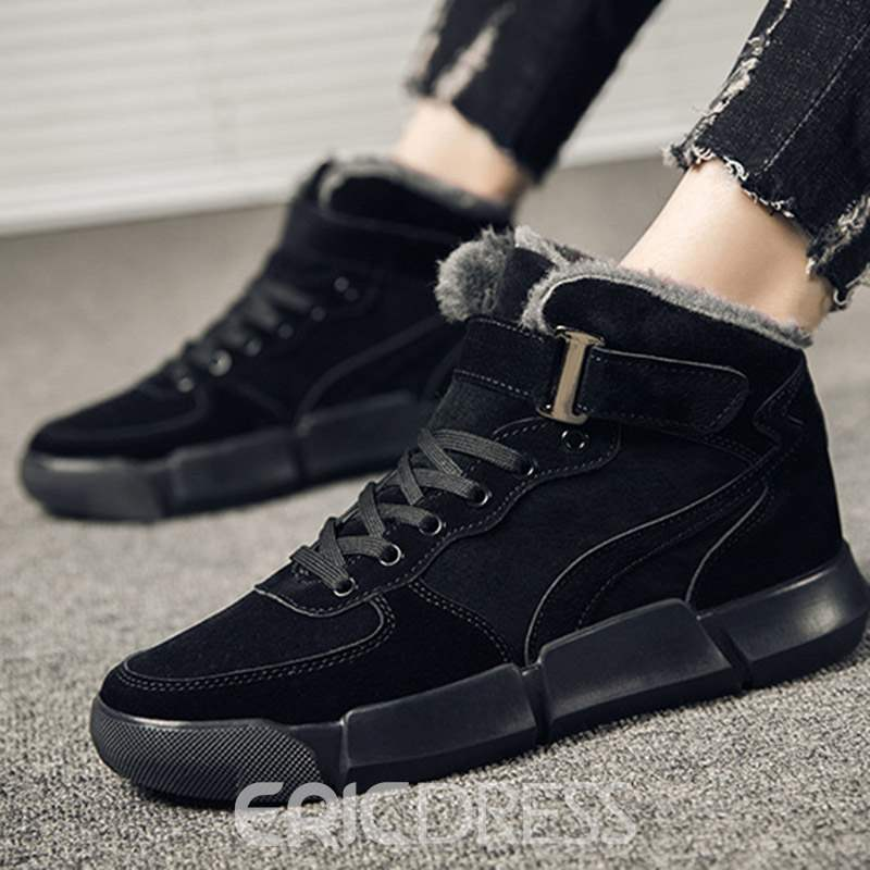 Ericdress Lace-Up Round Toe Men's Athletic Shoes