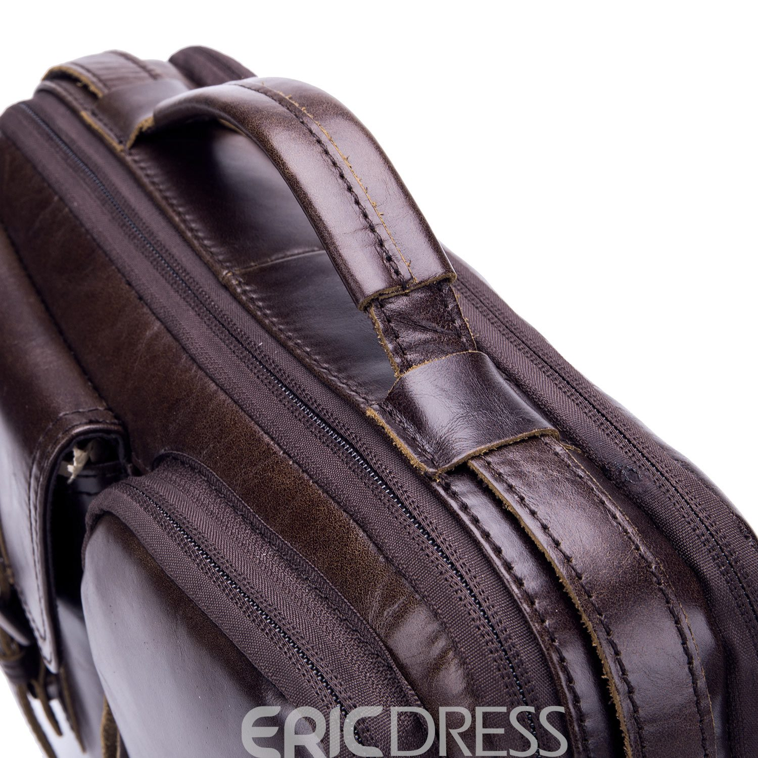 Ericdress European Plain Leather Rectangle Crossbody Bags