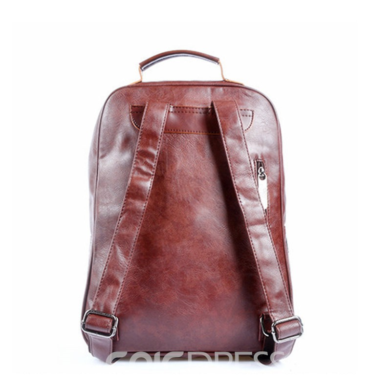 Ericdress Plain PU Thread Backpacks