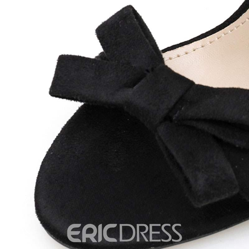 Ericdress Bowknot Line-Style Buckle Stiletto Heel Women's Sandals
