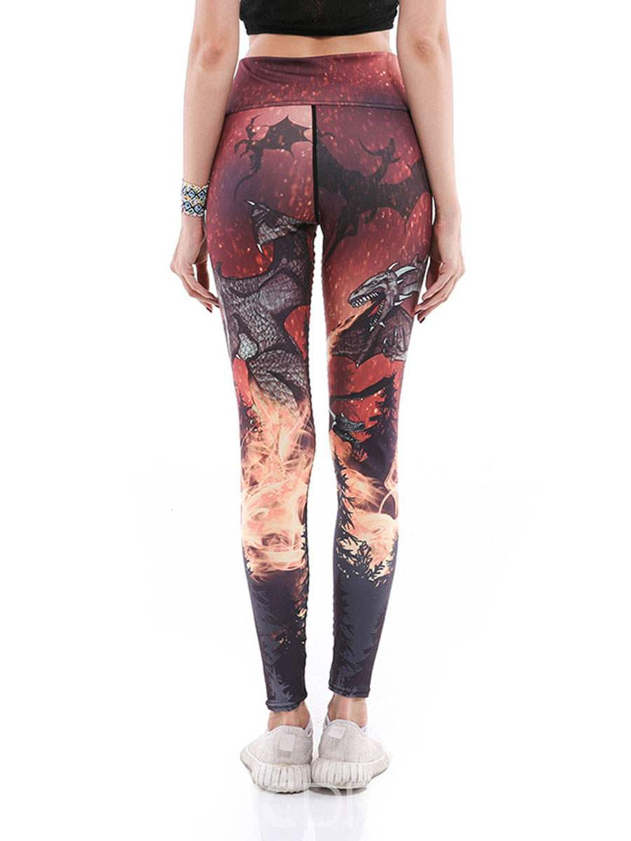 Ericdress Anti-Sweat Print Cartoon Yoga Pants