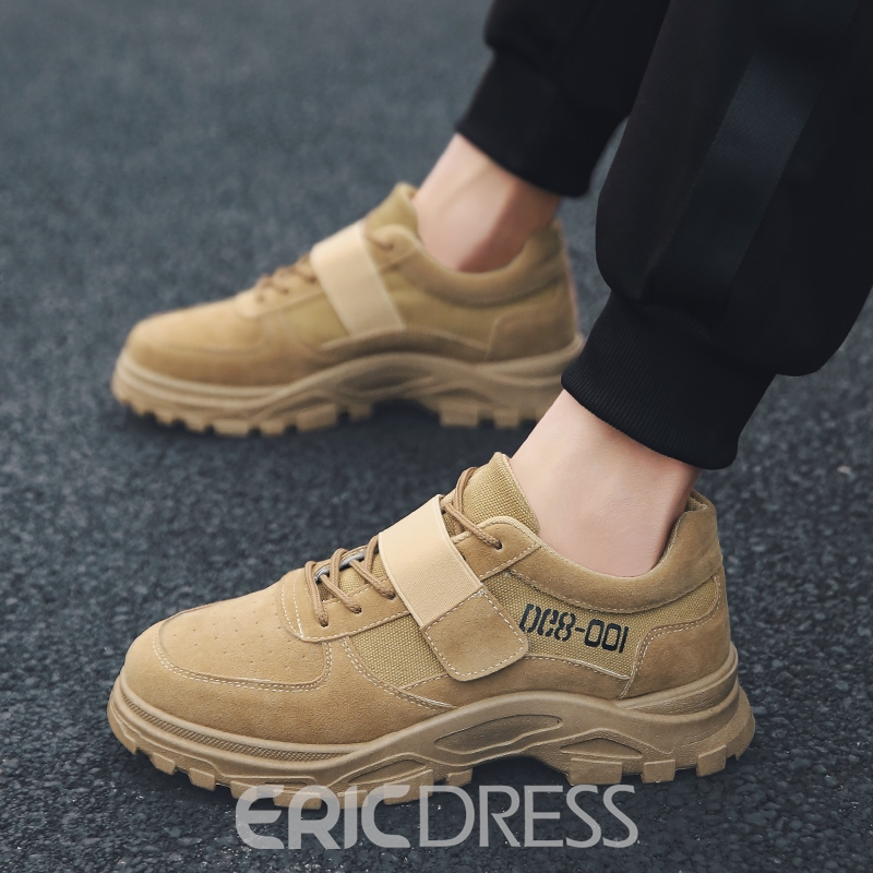 Ericdress Faux Suede Lace-Up Men's Outdoor Shoes