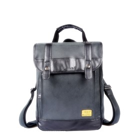 Ericdress Plain PU Magnetic Snap Thread Backpacks
