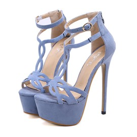 Ericdress Stiletto Heel Platform Zipper Women's Sandals