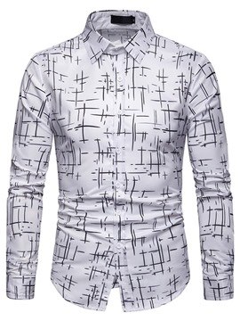 Ericdress Print Lapel Single-Breasted Mens Casual Shirt