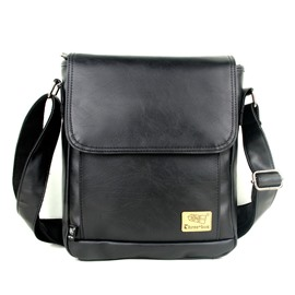 Ericdress PU Thread Plain Square Men's Crossbody Bags