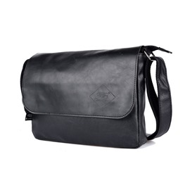 Ericdress PU Thread Plain Rectangle Men's Crossbody Bags