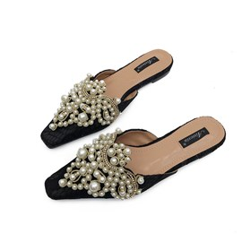 Ericdress Beads Closed Toe Slip-On Women's Mules Shoes
