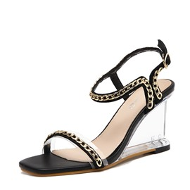 Ericdress PU Strappy Wedge Heel Women's Sandals