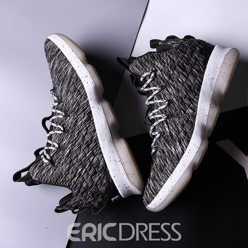 Ericdress Plain High-Cut Upper Lace-Up Round Toe Men's Sneakers