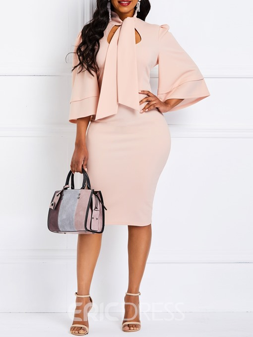 Ericdress Bodycon Knee-Length Office Lady Dress