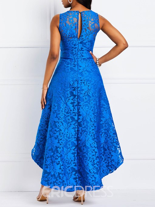 Ericdress Lace Asymmetric Hem Sleeveless Party Dress