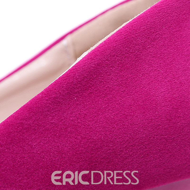 Ericdress Stiletto Heel Slip-On Peep Toe Women's Pumps