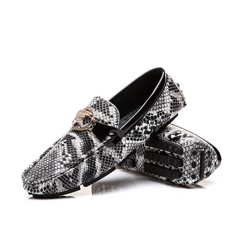 Ericdress Serpentine Slip-On Round Toe Men's Loafers Shoes
