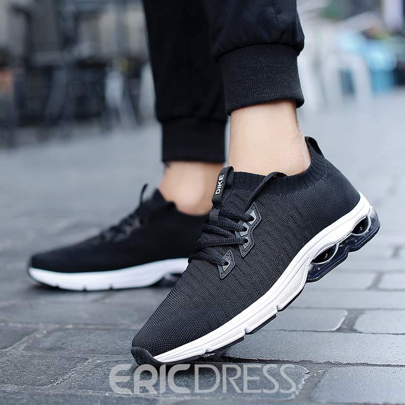 Ericdress Breathable Mesh Lace-Up Round Toe Men's Sneakers