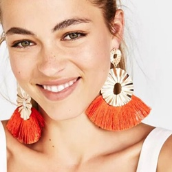 Ericdress Living Coral Tassel Earrings