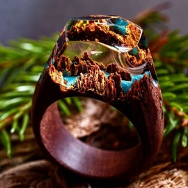 Ericdress Handmade Vintage Magic Forest Wooden Ring