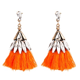Ericdress Living Coral Tassel Diamante Earrings
