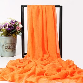 Ericdress Chiffon Orange Scarf