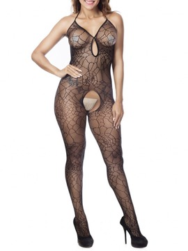 Ericdress Backless Sleeveless Tight Wrap Fishnet Bodystocking Teddie