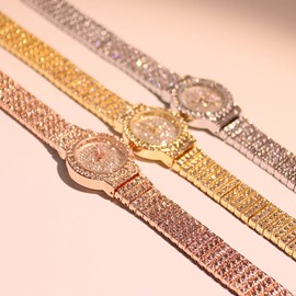 Ericdress Full Diamante Water Resistant Watch