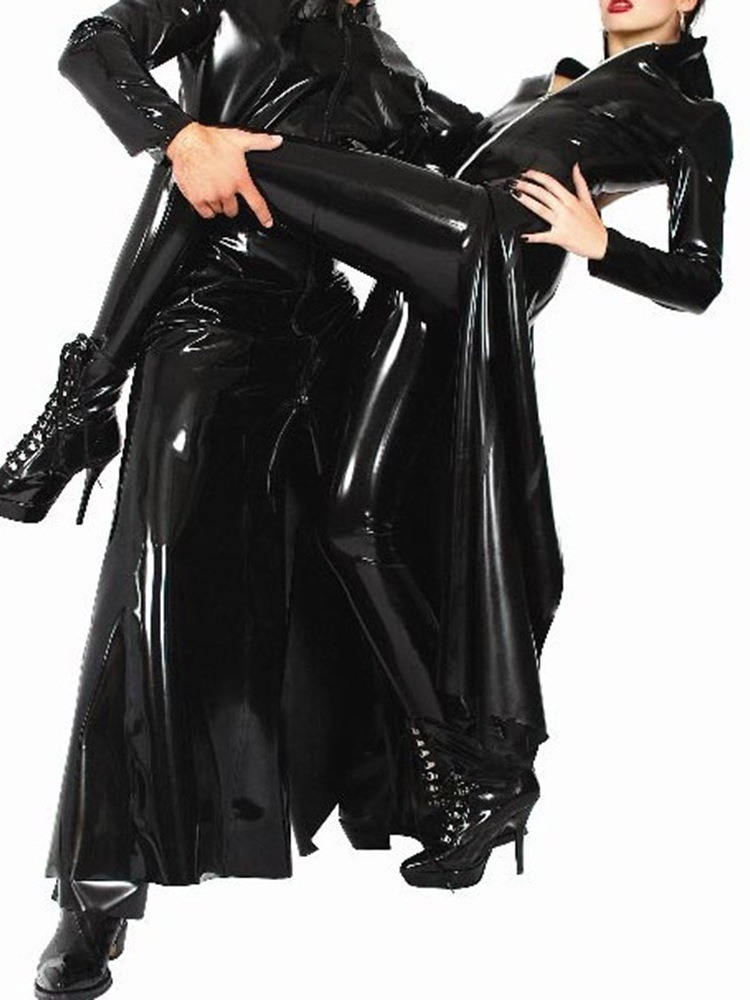 Ericdress Plain Zipper Patent Leather Sexy Costumes