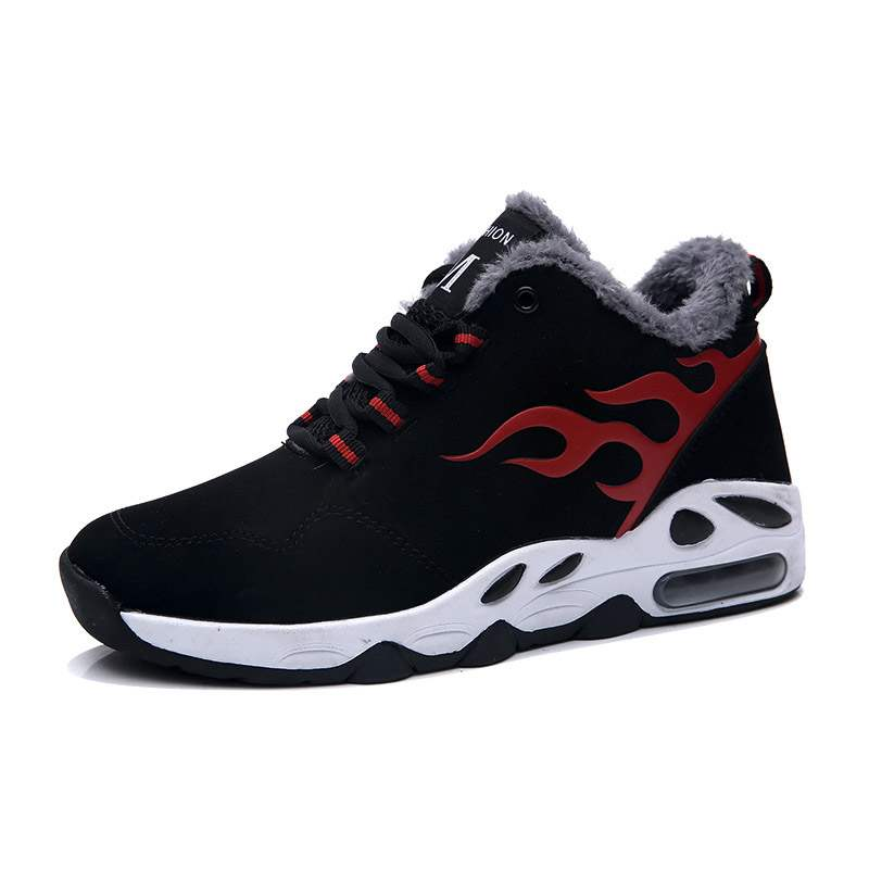 Ericdress PU Lace-Up Round Toe Men's Winter Sneakers